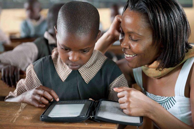 Kenya Betty Helping Boy