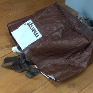 Natalia in bag